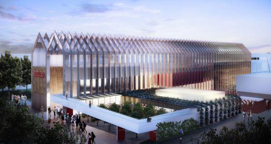 """Cultivating the future"" is the theme statement of #Spain Pavilion for #Expo2015. Design by estudio B720 Fermín Vázquez Arquitectos"