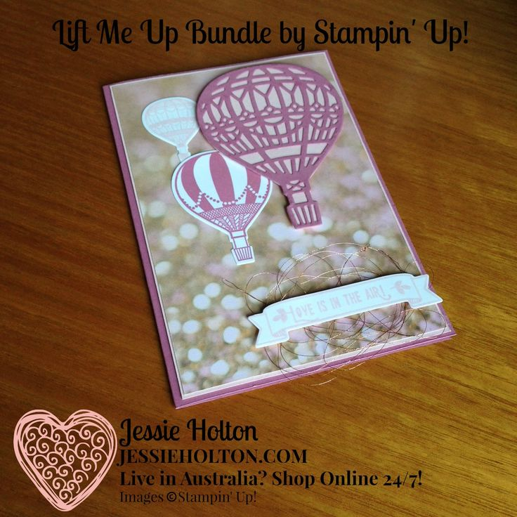 Live in Australia? Shop with me 24/7 online! #LiftMeUp for #GDP063 & #JAI338 by #JessieHolton #StampinUp #CrazyCrafters