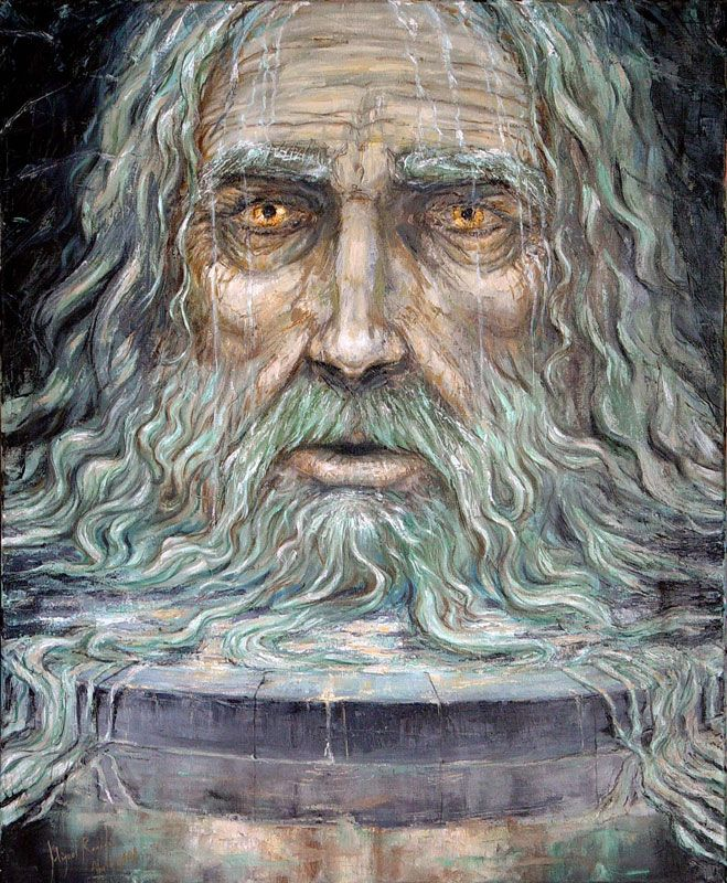There's also a dwarf named Mimir who made a sword for the hero Siegfried, but I would imagine that he's a different individual entirely. Mimir's well, which bestows wisdom to anyone who drinks from it, is located in Jotunheim, the realm of the Frost Giants, at the root of the World Tree. Picture by Miguel Regodon  ((VoVatia, 10/09/2011, accessed  09/10/14))