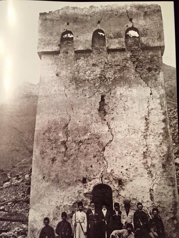 #Balkarian #princes #Balkarukovy at the entrance of the #clan #castle-#tower. #photo #Balkaria