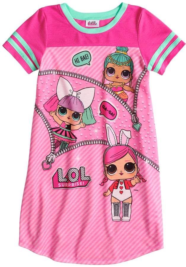bea79e8fc45f Girls 4-10 L.O.L. Surprise! Knee Length Dorm Nightgown