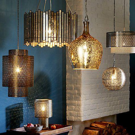 Buy John Lewis Marisa Cutwork Brass Tall Pendant Light Online at johnlewis.com