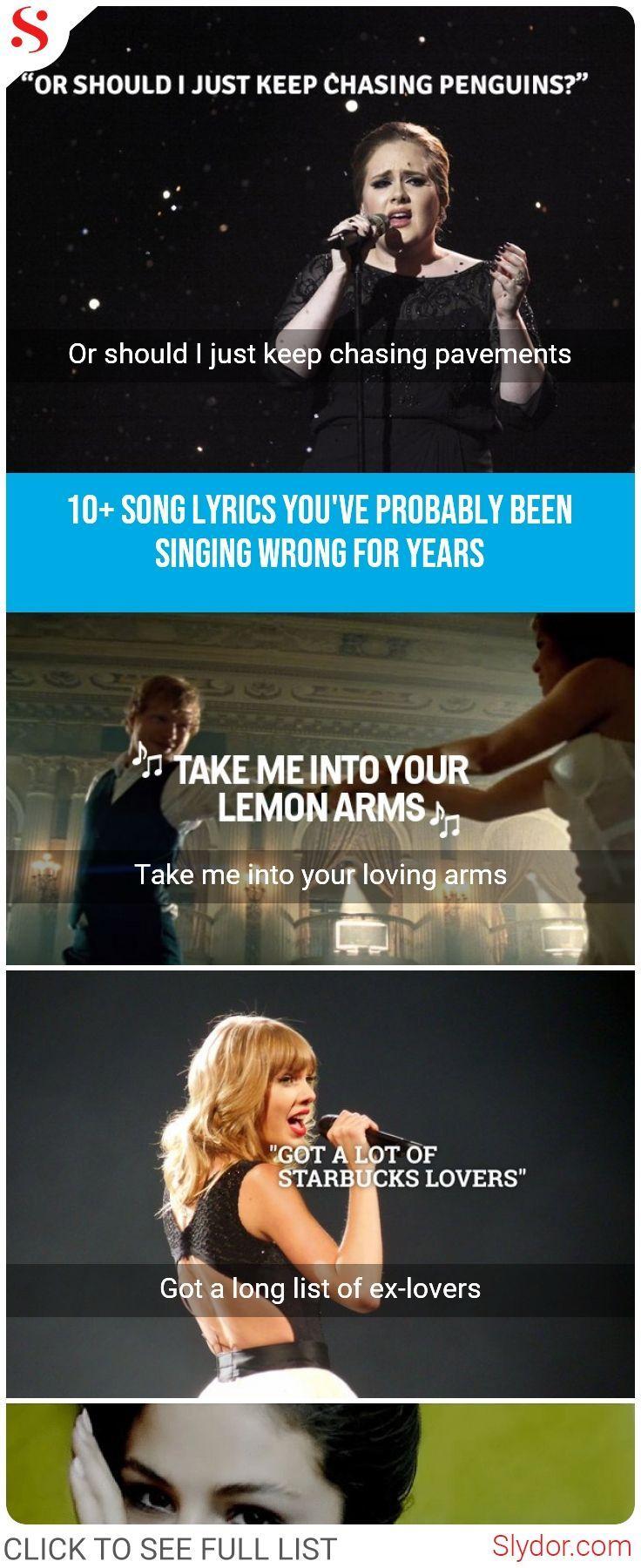 12 Most Popular Songs We Always Misheard Their Lyrics Hollywood Movies Songs Celebrities Lyrics Wronglyric Funny Lyrics Funny Songs Misheard Lyrics Funny