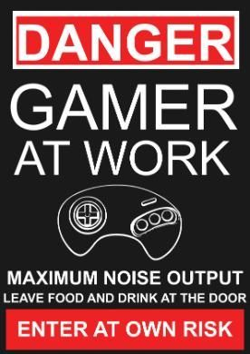 Gamer at work, enter at own risk. Only gamers understand this! Tap to see more funny quotes about gamer. - @mobile9