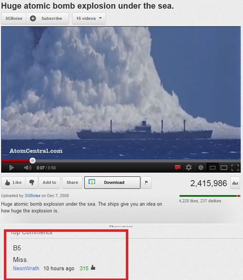 """""""Best comment on Youtube - ever."""" LOL"""