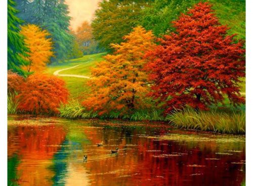 Раскраска по номерам «Осенний карнавал» Чарльза Уайта Картины по номерам, paint by numbers, купить картину по номерам, новый сюжет, дизайн