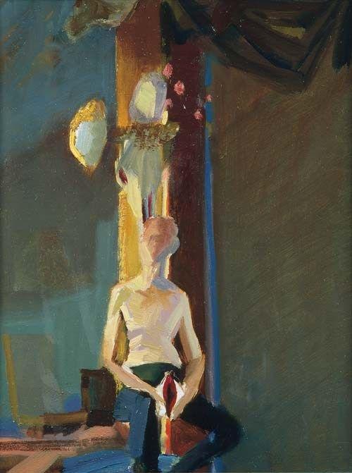 Janusz Kaczmarski, Wizerunek własny, 2000, olej na płótnie , 35 x 27 cm,  fot. Jacek Gładykowski - photo 3