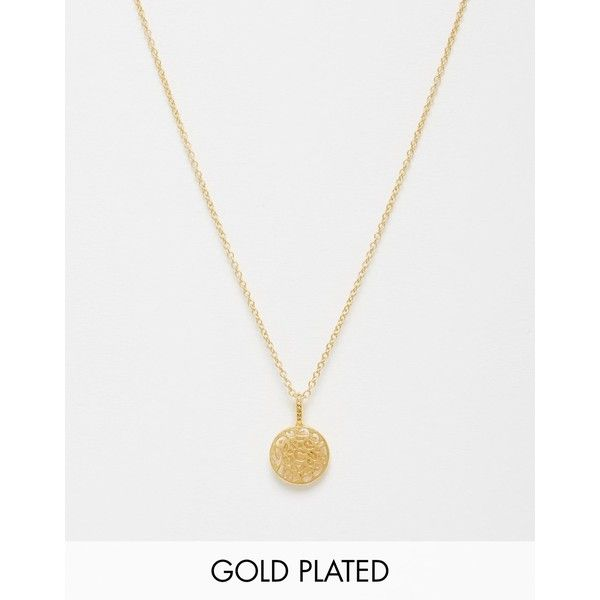 Pieces & Julie Sandlau Jiu Animal Cut Out Jiu Gold Plated Necklace (£49) ❤ liked on Polyvore featuring jewelry, necklaces, gold, pendant jewelry, gold plated jewelry, gold plated necklace, pendants & necklaces and pieces necklace