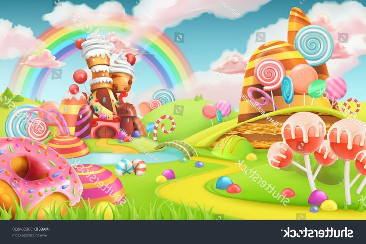 Sweet Candy Land Cartoon Game Background Ardiafm Slot