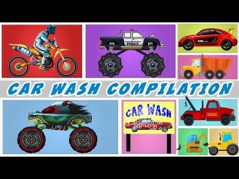 Car Wash Compilation | 60 mins Plus Compilation For Kids, Children, Toddler... #videos #kidsvideos #babyvideos #children #carwashforkids