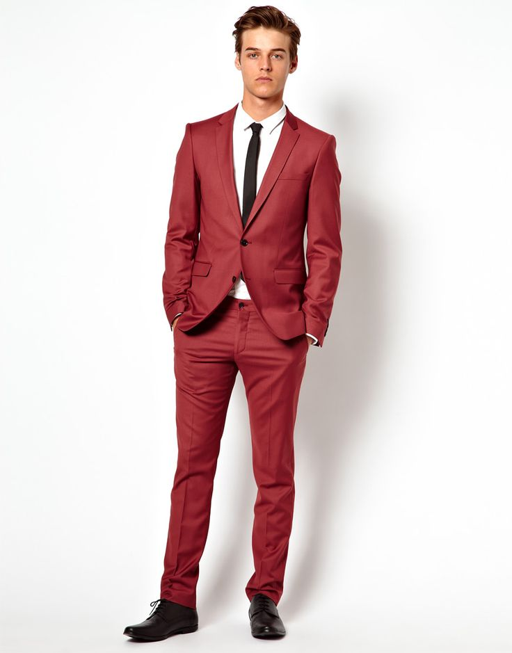 11 best Shades of Red Mens Suits images on Pinterest