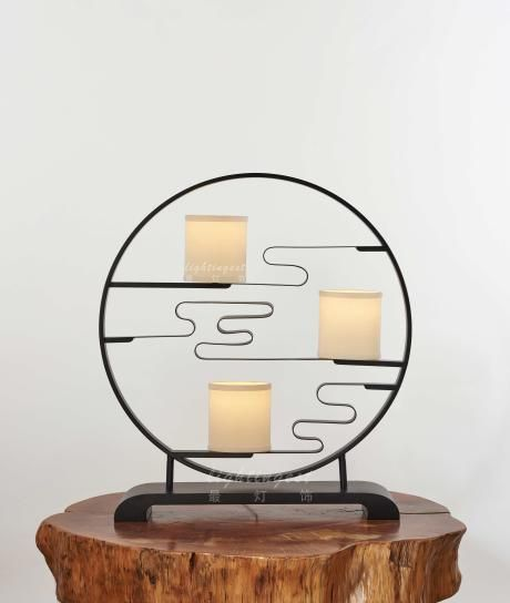 The modern new Chinese style table lamp【最灯饰】现代新中式祥云玄关柜入门台灯