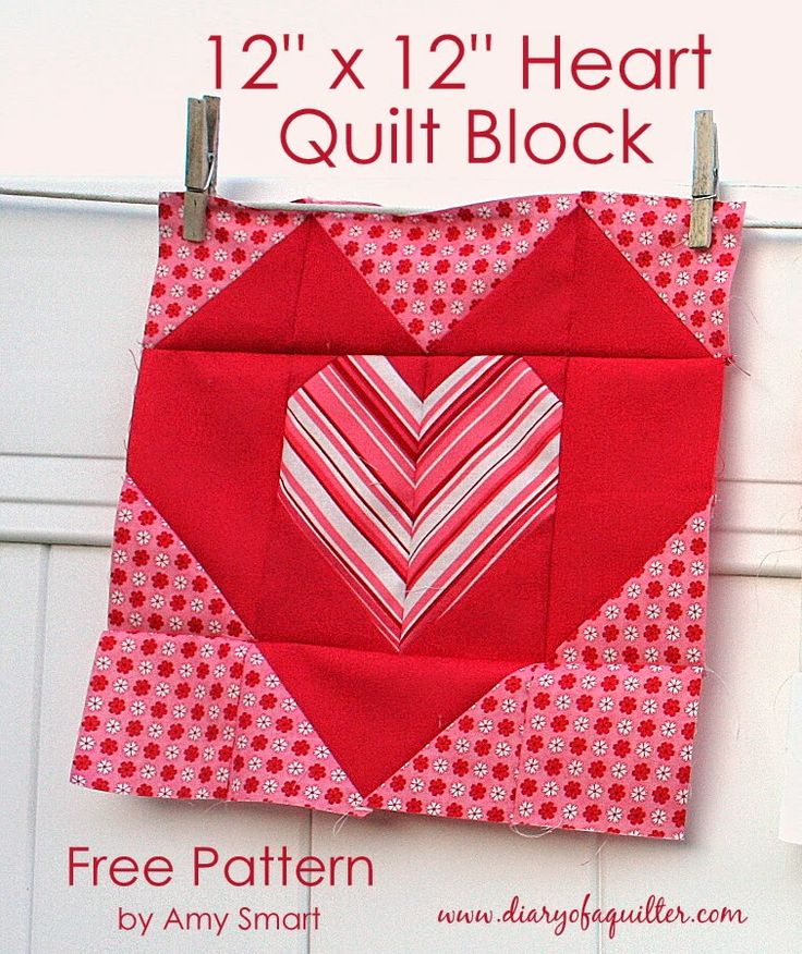 """""""Be good to your Heart"""" quilt block tutorial - Diary of a Quilter - a quilt blog"""