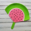 Watermelon Fan for Summer: Landon could make these for my Sisterhood friends since we always get hot at my mom's house!