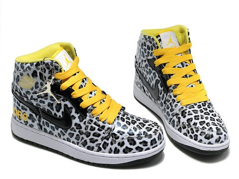 Air Jordan 1 Olympic Pack Leopard White Black Yellow