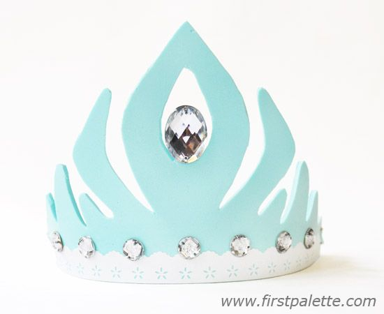 Blue Princess Elsa Craft Foam Crown craft