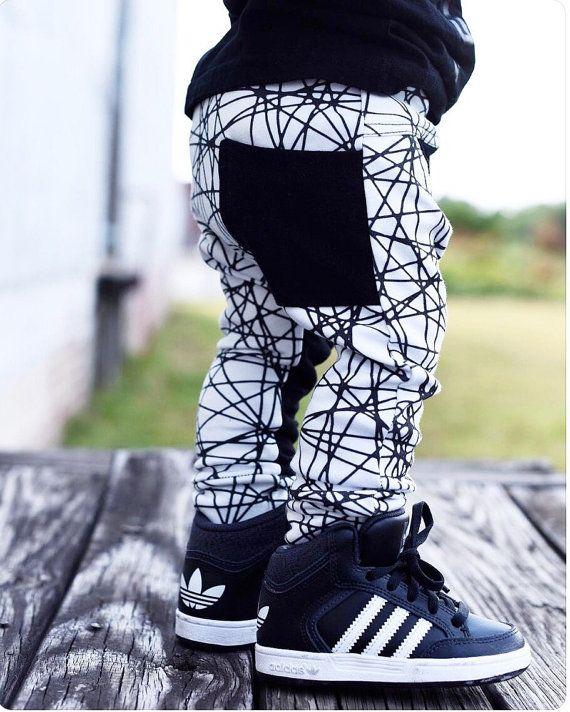 Hipster baby boy clothes / Trendy toddler boy leggings /