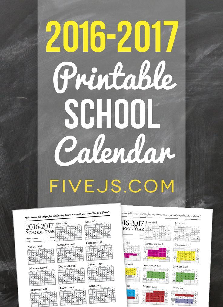 academic calendar template 2018 17