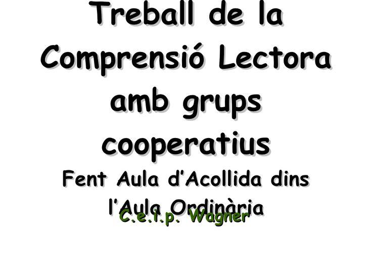 Treball De La Comprensió Lectora Amb Grups Cooperatius by Montserrat Mora Bonbehí via slideshare