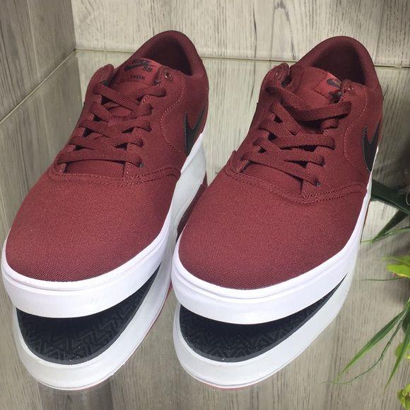 Nike Sb Check Solar Cnvs Dark Team Red Black Wh Nike Sb Nike Black And Red