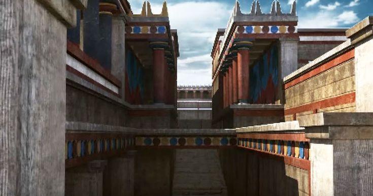 To Παλάτι της Κνωσού σε μια εντυπωσιακή τρισδιάστατη απεικόνιση | Τι λες τώρα;