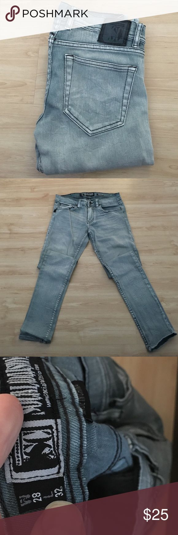 Urban outfitters men's skinny jeans 28x32 Urban outfitters men's gray skinny jeans 28x32 👖 Urban Outfitters Jeans Skinny