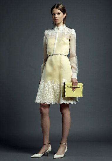 Valentino Resort 2013: love the simplicity but with a pop of lemon