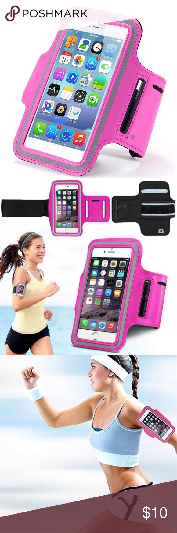 i7+/6+/6s+ High quality gym and sport armband case i7+/6+/6s+ High quality gym and sport armband case Listing is Durable water-proof, sweat-proof Sport and Gym Armband case for iPhone 7 Plus & 6 plus & 6s Plus This is unisex sport accessory for Women & Men indoor Gym and Outdoor sport smart phone Case holder. High quality Nylon Bag Cover Holder specially for iPhone 7 Plus and 6 Plus and 6s Plus Fashion color Designed for your convenience. Color: Rose Order will ship within 24 hours…
