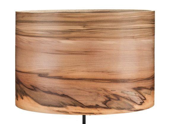 Modern Floor Lamp  Wood Floor Lamp  Natural Satin by Sponndesign