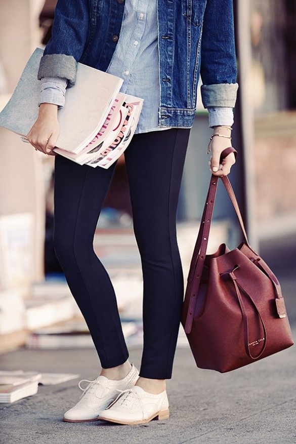 I love that bag! 5 Perfect Pants to Complete Your Work-to-Weekend Look via @WhoWhatWear