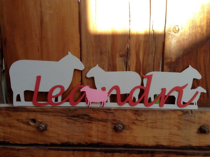 Laser Cut Name with Painted Wood Detail