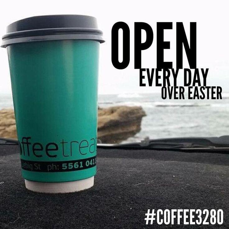 Coffee treat @ 64 Liebig ST is open every day over #easter till midday! #coffee #coffee3280 #destinationwarrnambool #warrnamboolcafe #takeawaycoffee by destinationwarrnambool