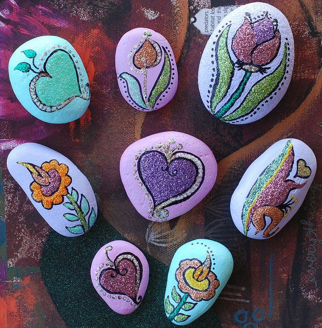Valentine Glitter Rocks | Flickr - Photo Sharing!
