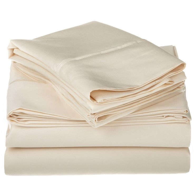 Egyptian Cotton 1200 TC Solid Deep Pocket Queen Size Sheet Set in