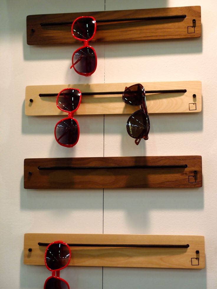 Great eyewear rack by http://boardbydesign.net