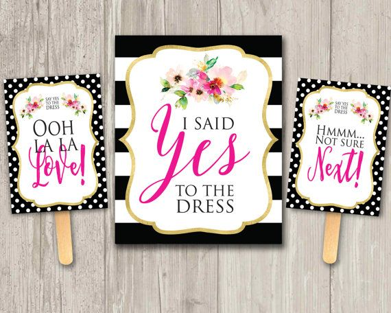 Say Yes to the Dress paddle game I Said by ThePaperVioletShoppe