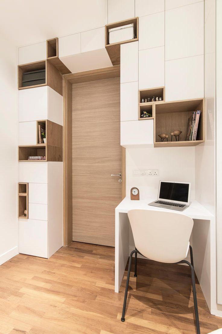 renovation, interior design, eightytwo, scandinavian, style, home, singapore, 40000, condo, bedroom, study,