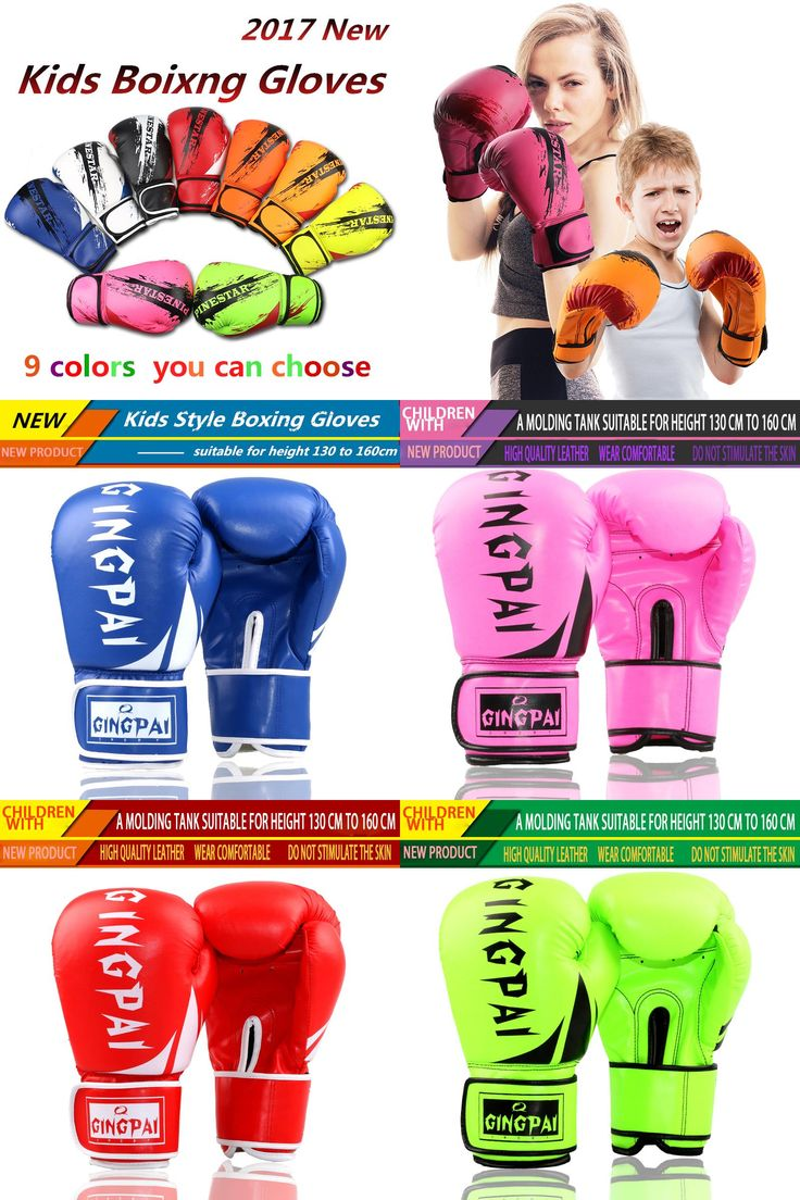 [Visit to Buy] Professional Children Boxing Gloves 6oz Kids Free Combat Muay Thai Glove Kids Boxing Gloves for 5-14 Years Boys Girls Red Blue #Advertisement