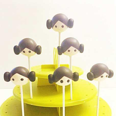 star wars cake pops princess leia