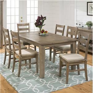 jofran slater mill pine rectangular table and ladderback chair set pilgrim furniture city dining