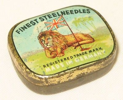 gramophone needles tin