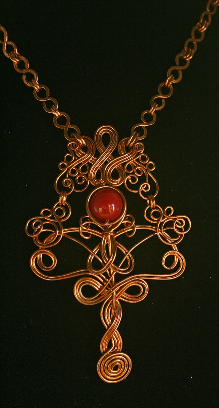517 best wire jewelry necklace images on pinterest jewelry copper wire necklace with vintage maroon glass bead 12500 via etsy aloadofball Images