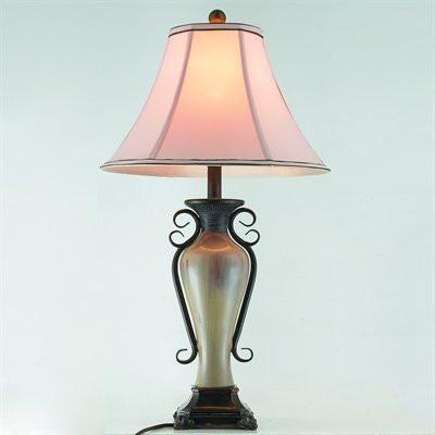 Gen lite 104004 28 faux glaze table lamp