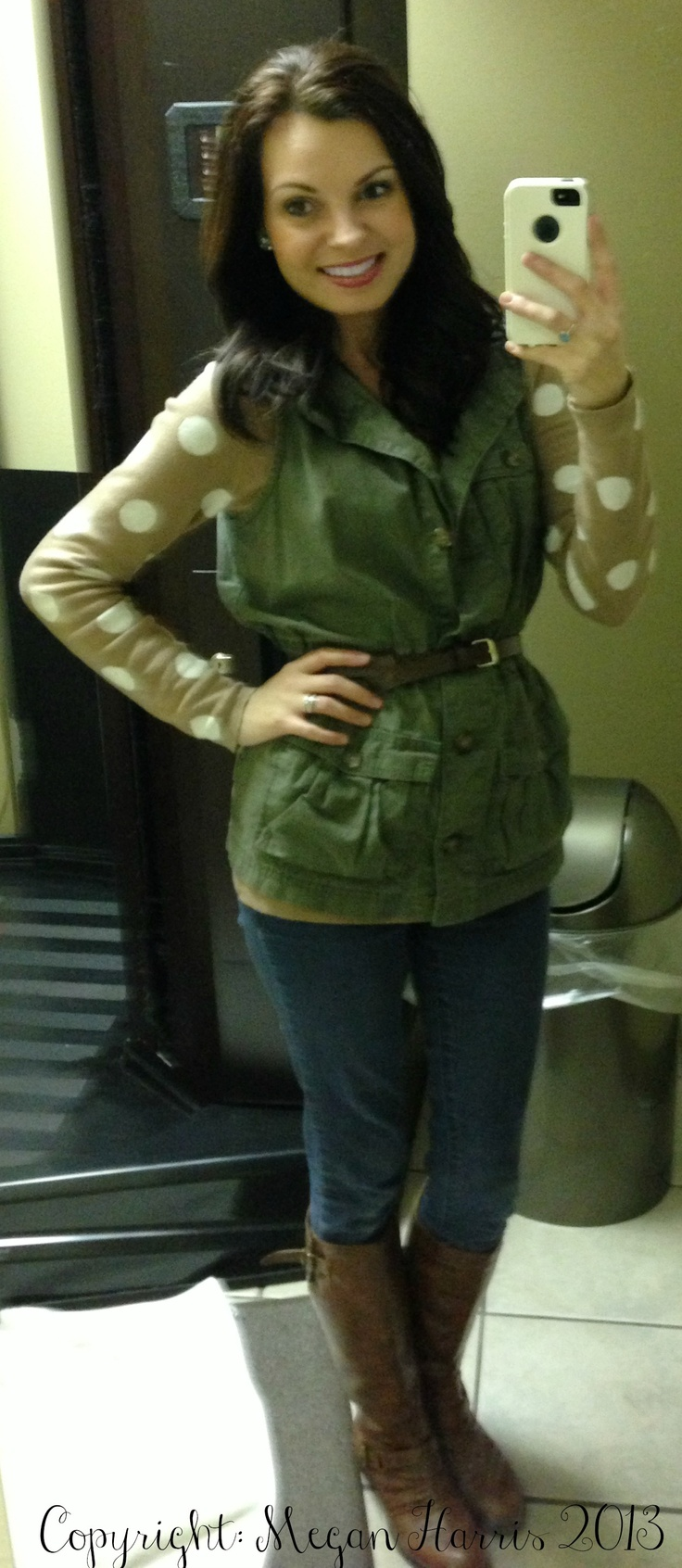 Sweater: Old Navy, Vest: Old Navy, Belt: HM, Jeans: Forever 21 and Boots: Payless #beautybrawler