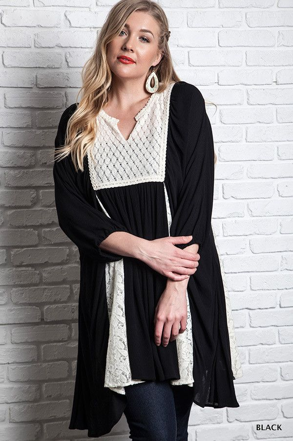Zoe Lace Tunic Black From Paisley Grace Boutique My Style Pinterest Lace Tunics And