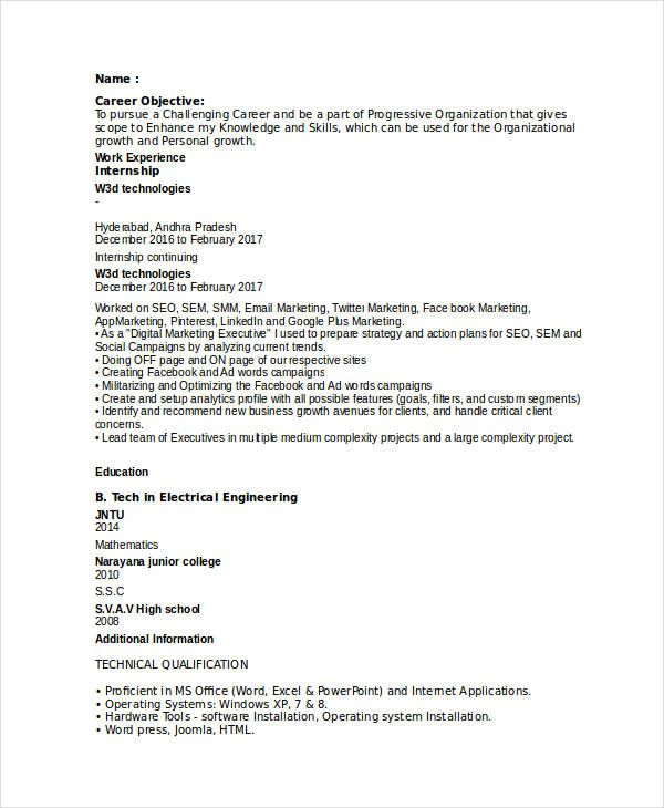 Entry Level Digital Marketing Resume , Marketing Resume Samples for Successful Job Hunters , It is an irony while marketers should sell and promote their products they often failed or having a hard time in selling themselves. They often fail b... Check more at http://templatedocs.net/marketing-resume-samples-for-successful-job-hunters