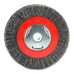 Forney 6 in. x 1/2 in. and 5/8 in. Arbor Wide Face Coarse Crimped Wire Bench Wheel Brush