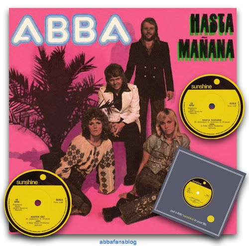 "Today in 1974 Abba's ""Hasta Manana"" (with the b-site ""Watch Out"") entered the charts in South Africa where it stayed for 15 weeks reaching n... #Abba #Frida #Agnetha #Vinyl http://abbafansblog.blogspot.co.uk/2016/11/abba-date-8th-november-1974.html"