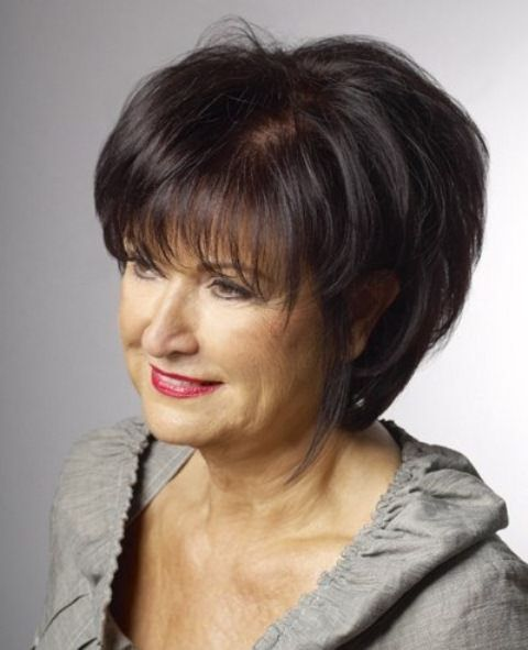 Different hairstyles for older women. Short hairstyles for women over 60. Short…