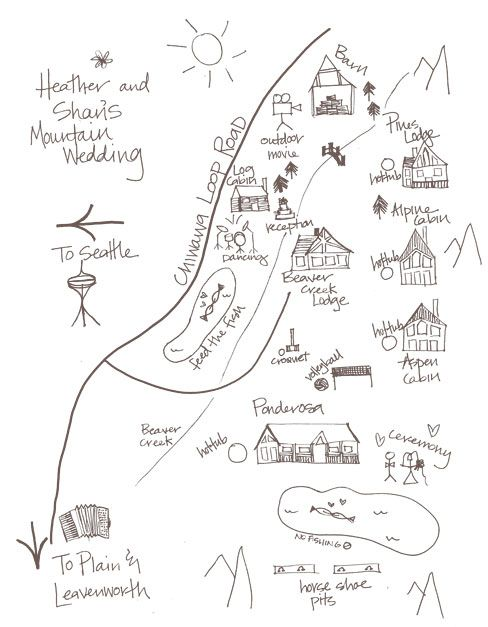Simple Hand Drawn Map For Booklet Op Wedding In 2018 Invitations